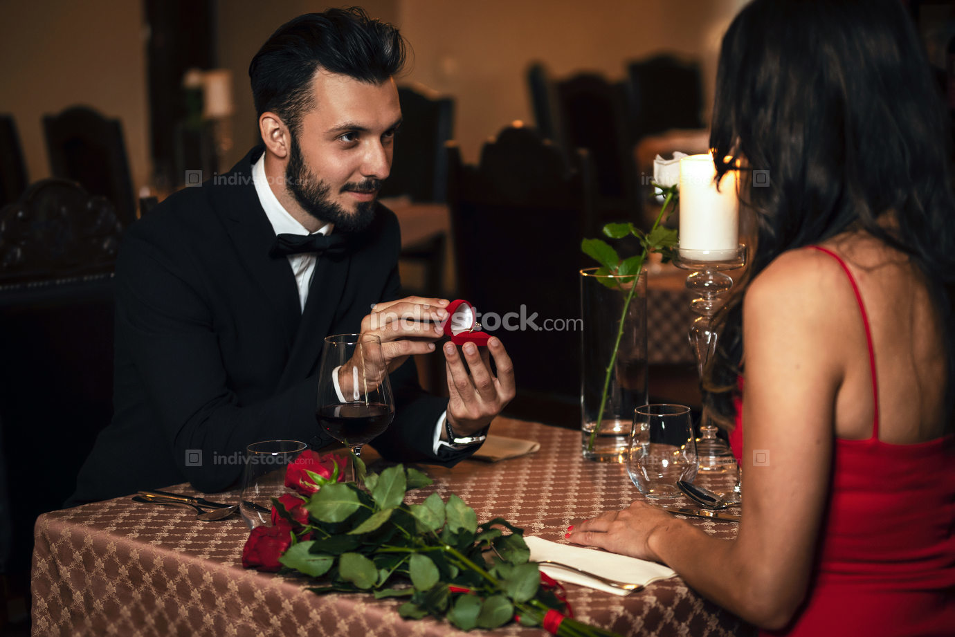 Romantic engagement dinner