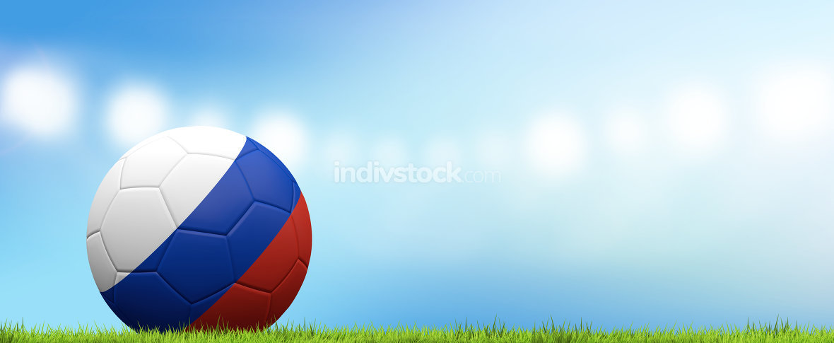 Russia ball. soccer football russian ball 3d rendering