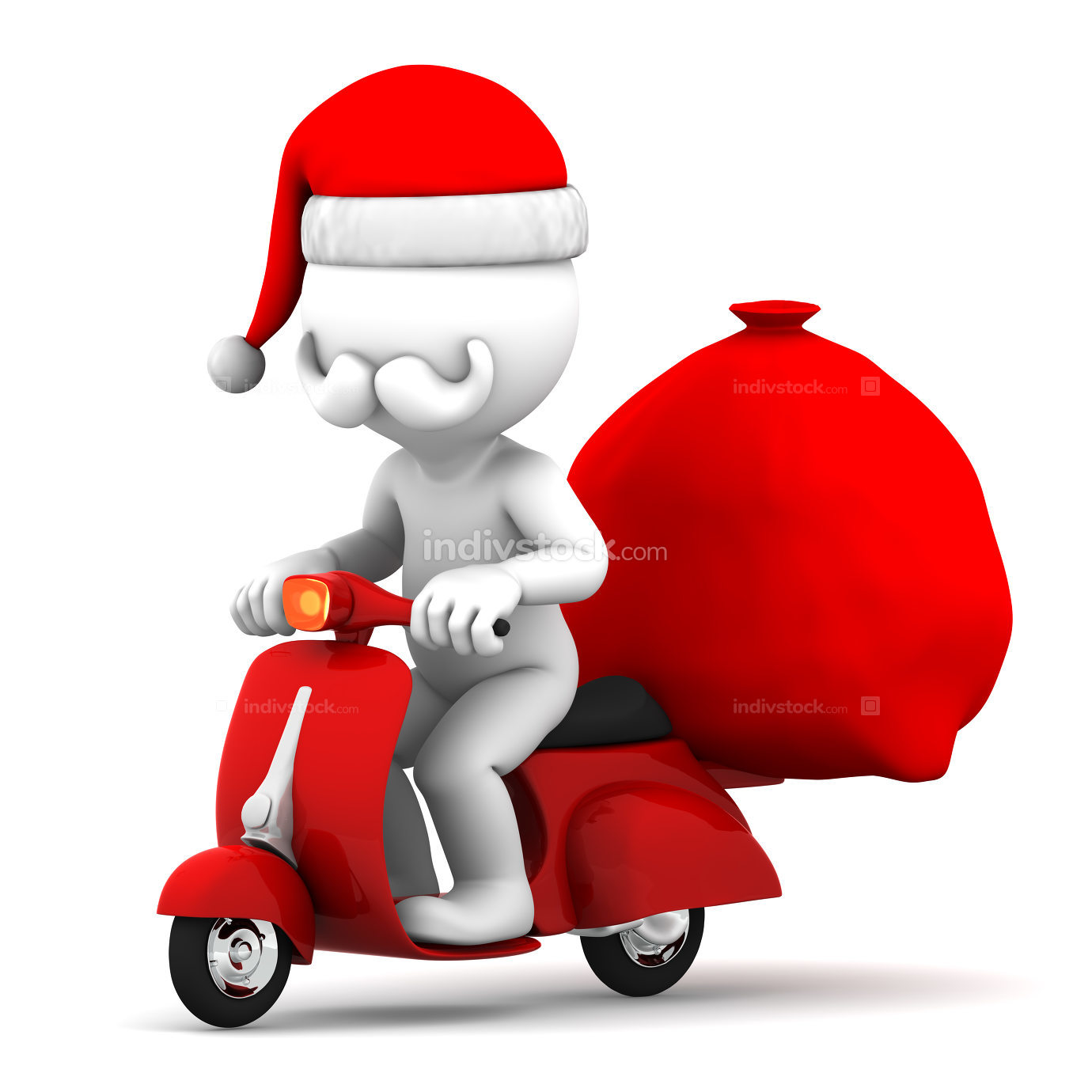 Santa Claus delivering gifts
