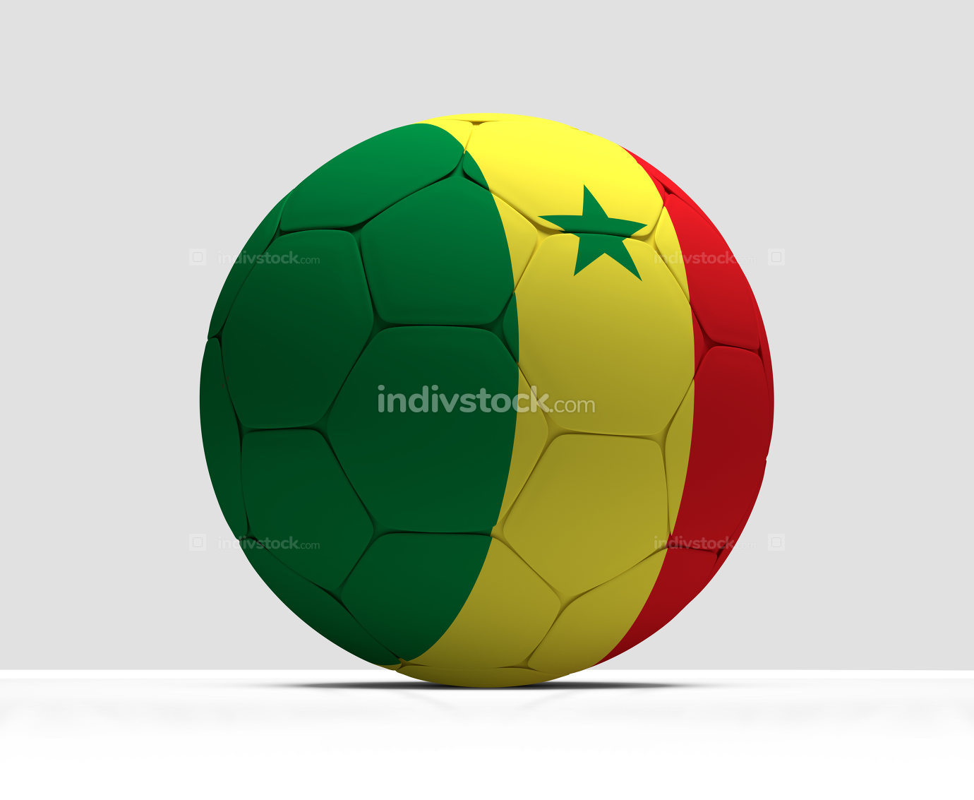 677694b3f4b Senegal soccer football ball 3d rendering