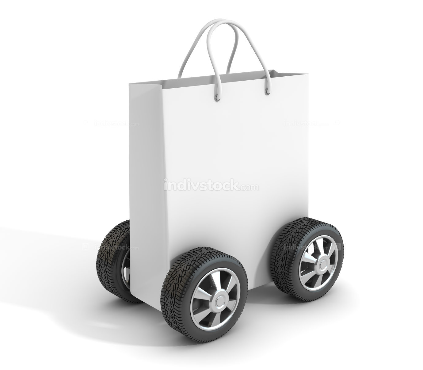 Shopping Bag with Car Tire