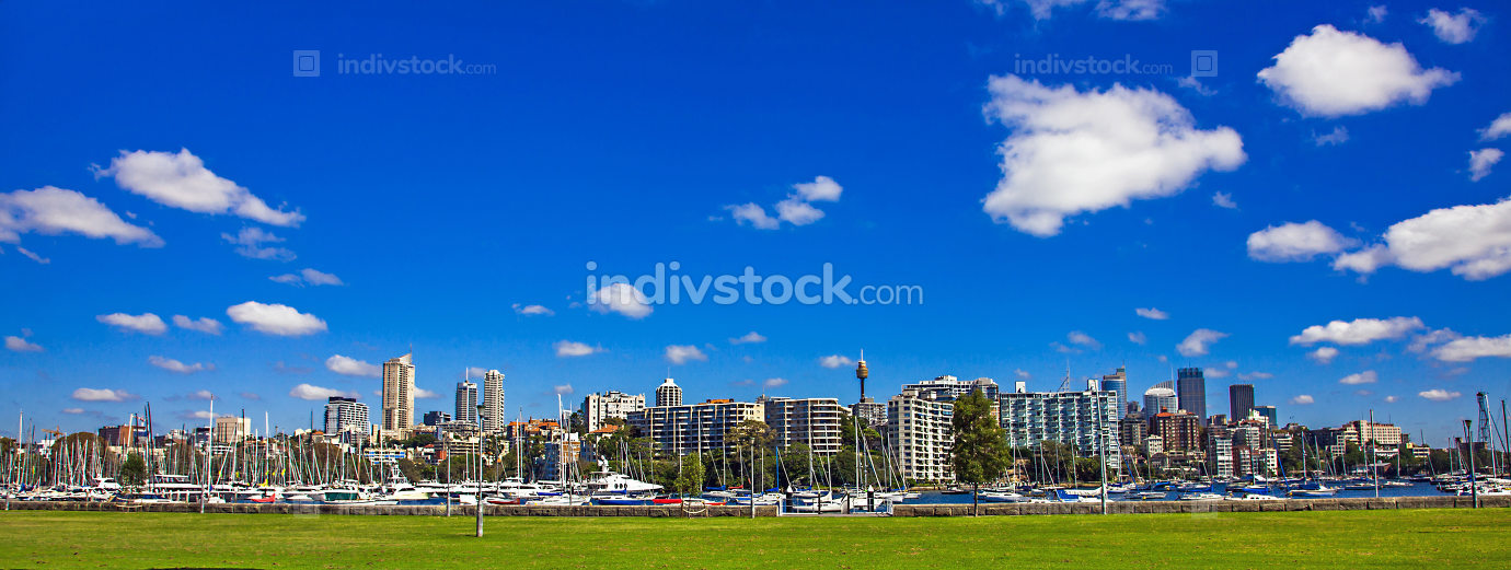 Skyline of Sydney New South Wales Australia