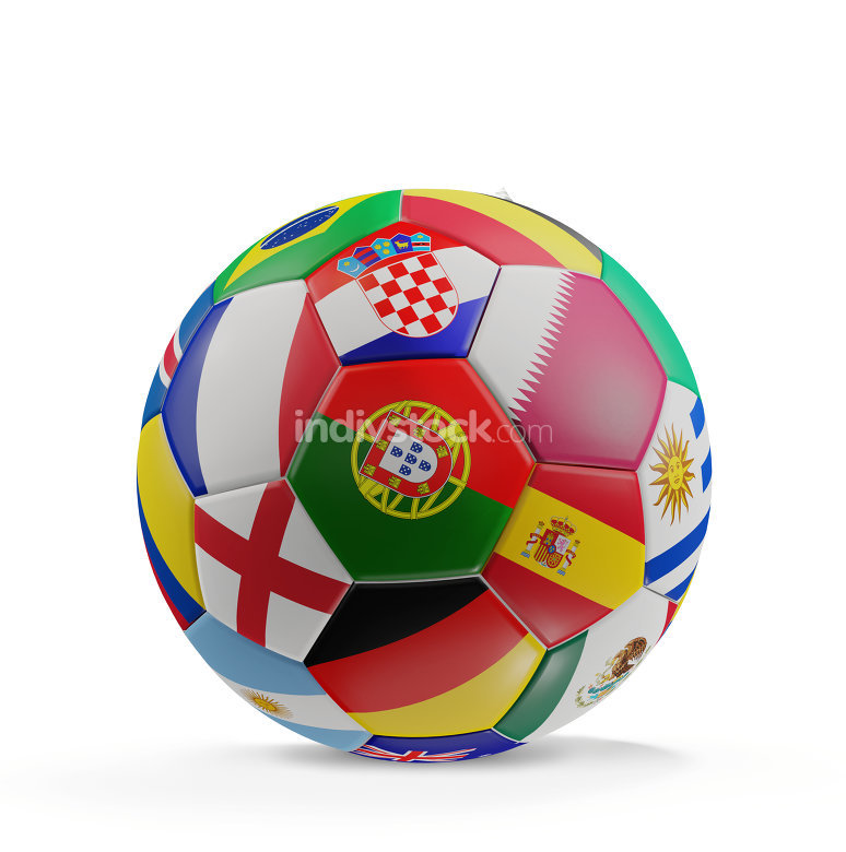 soccer ball 3d-illustration