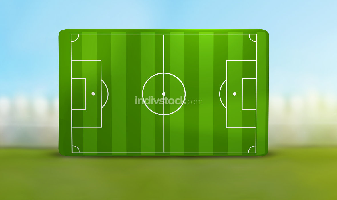 soccer field 3D illustration