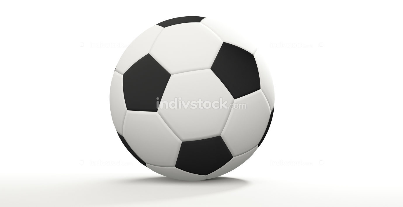 soccer football ball 3d rendering isolated