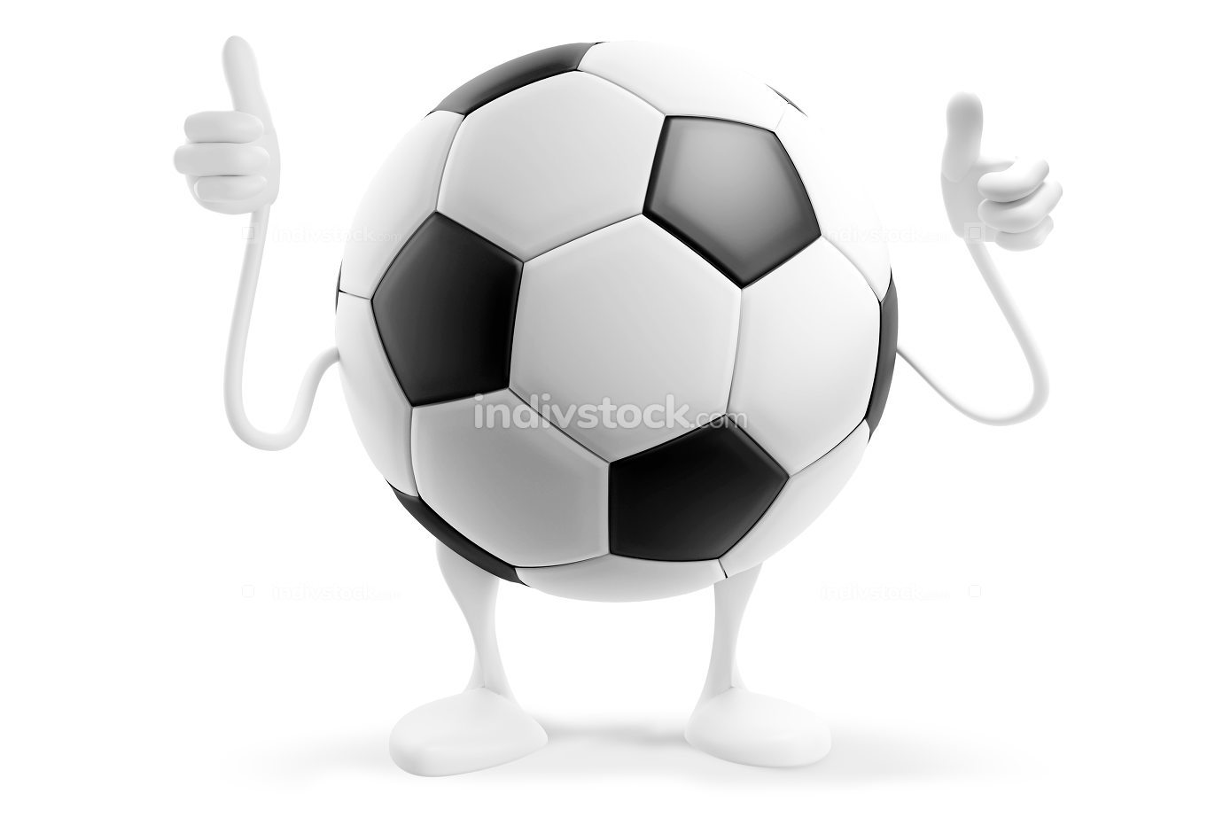 soccer football ball 3d-illustration