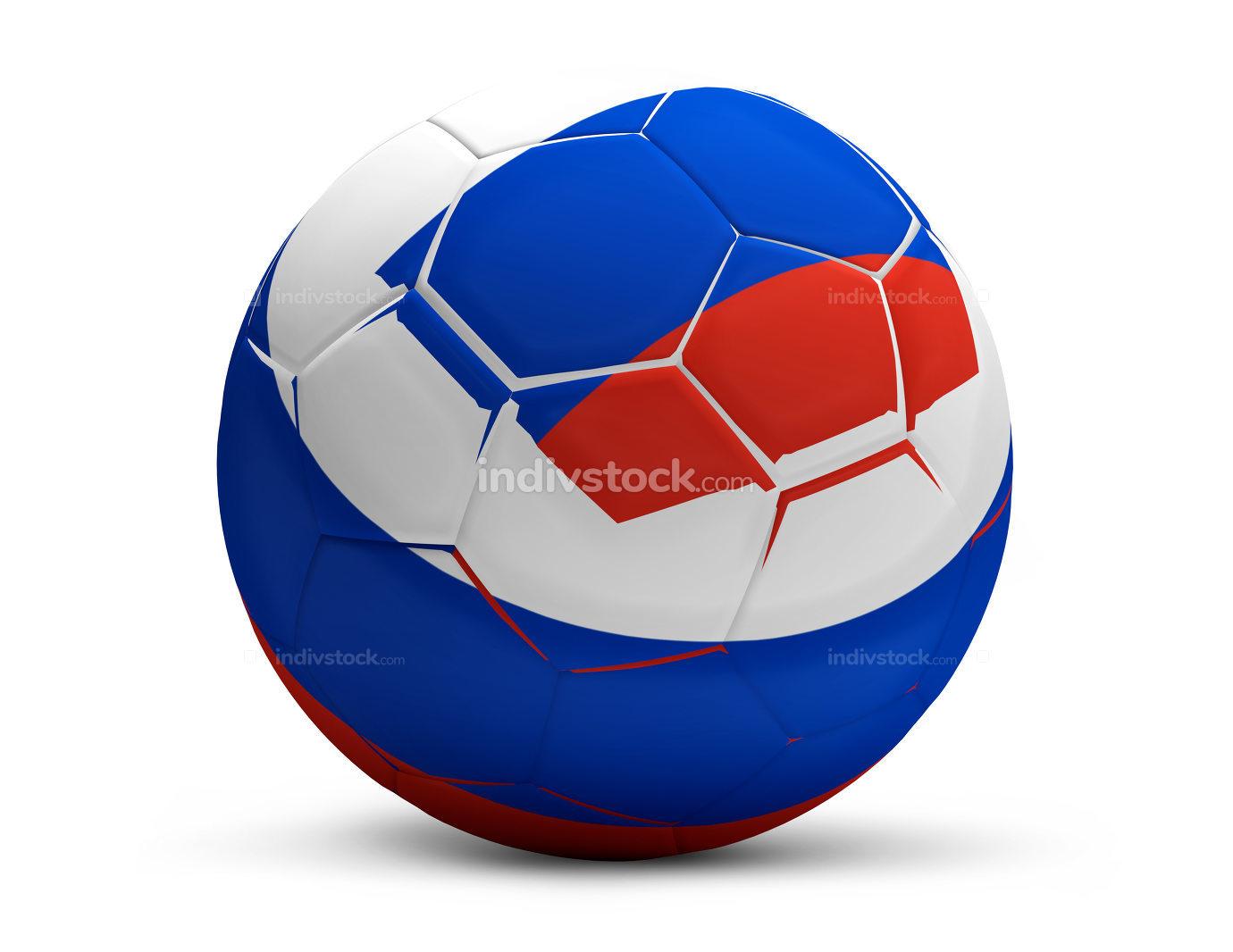 soccer football ball white 3d rendering isolated