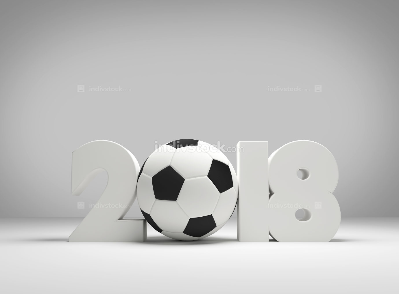 soccer football symbol ball 2018 3D rendering