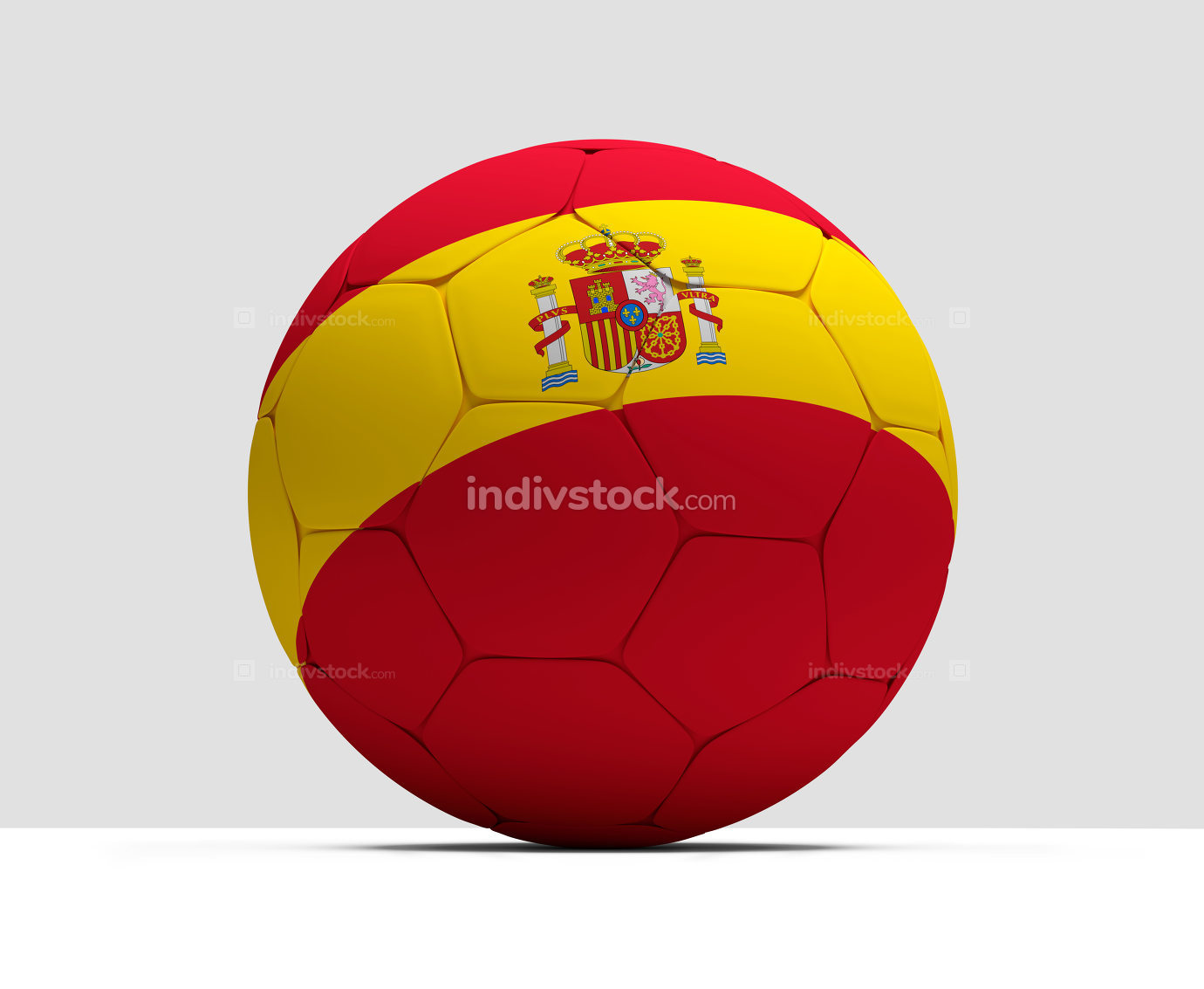 Spain spanish soccer football ball 3D Rendering