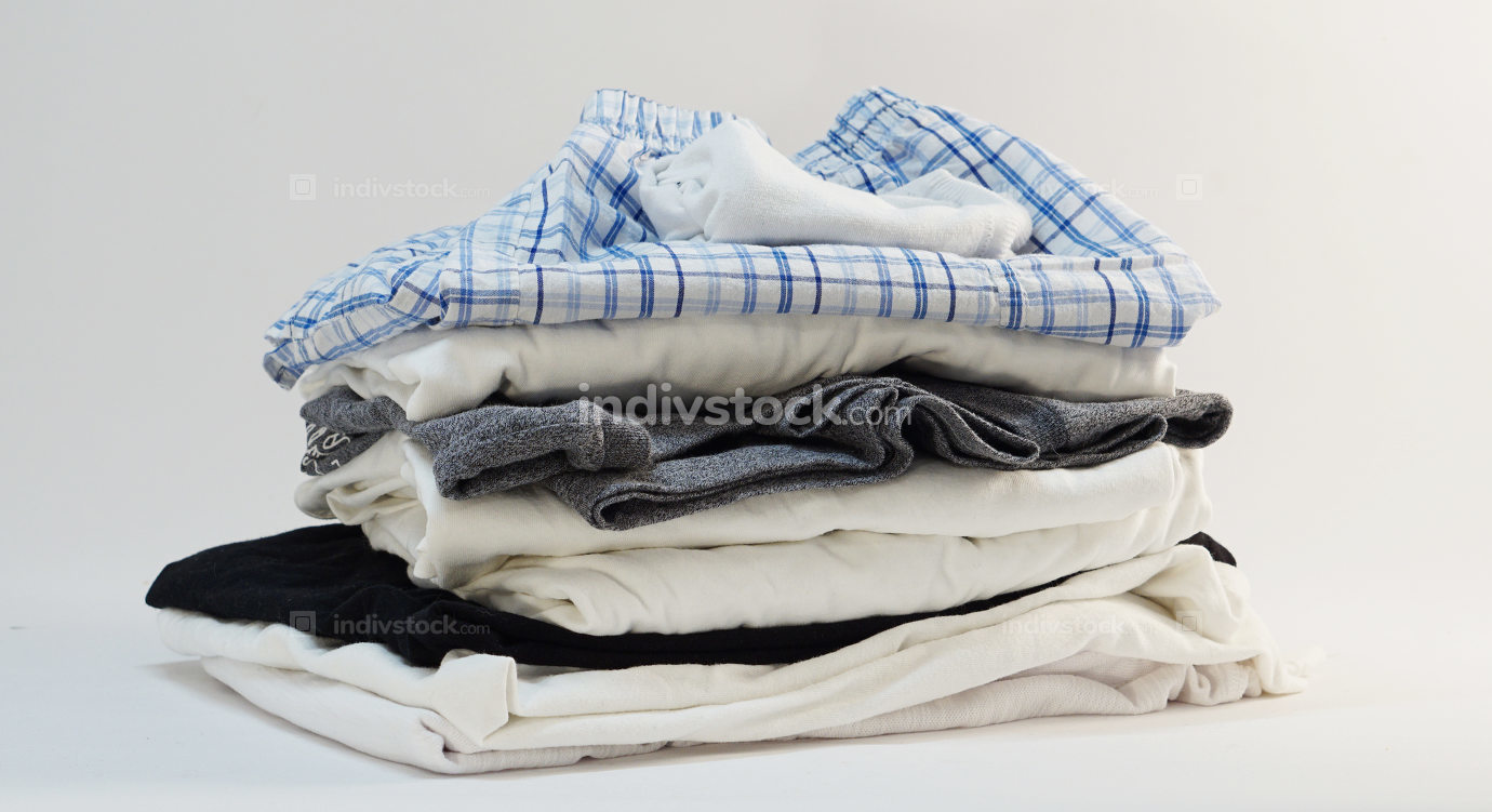 stack of menswear shirt short socks underwear
