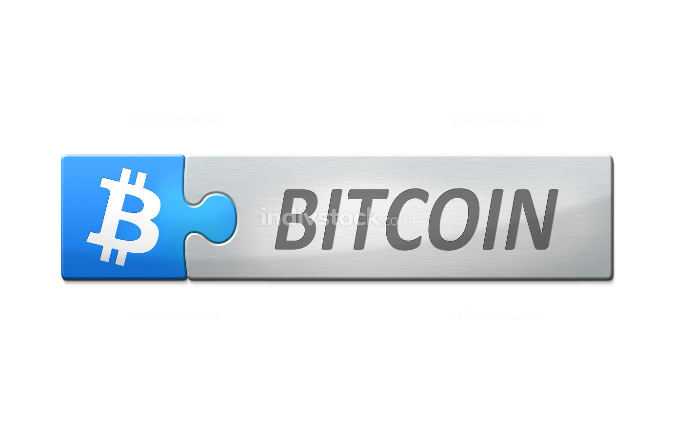 stylish web banner with text bitcoin