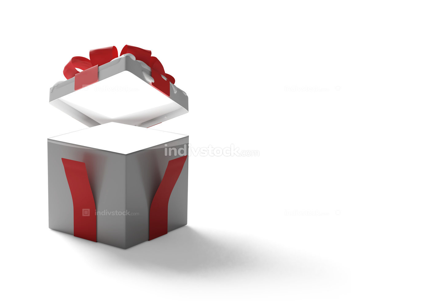 surprise opened box present 3d-illustration