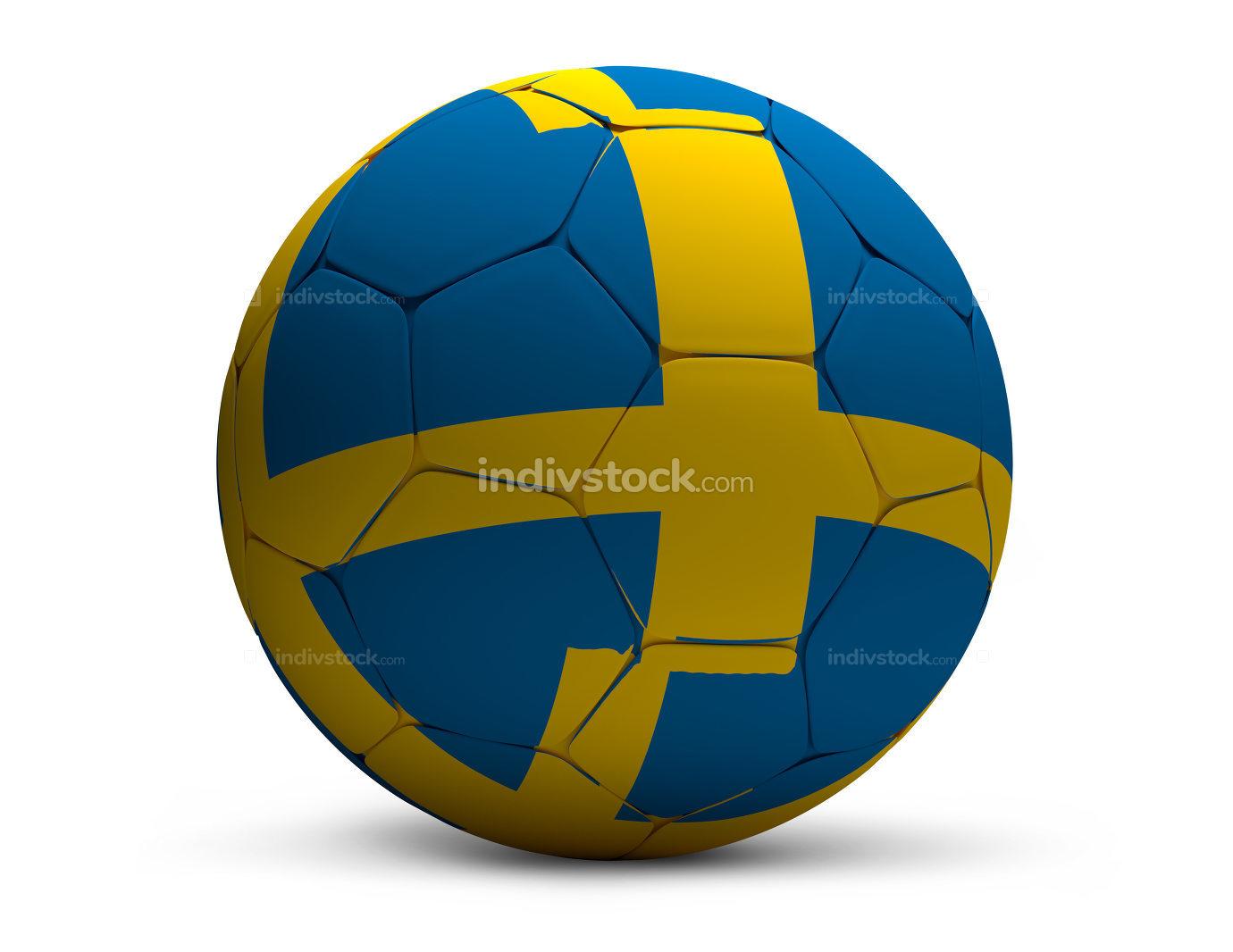 Sweden swedish soccer football ball 3d rendering isolated
