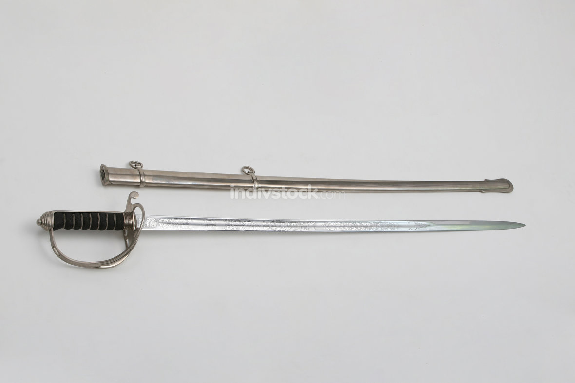 Sword, taken out of scabbard;