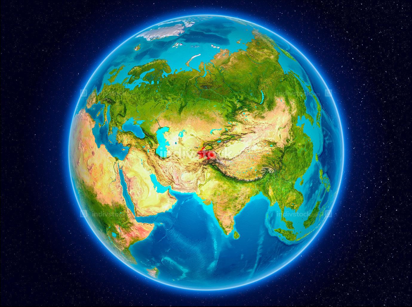 Tajikistan on Earth
