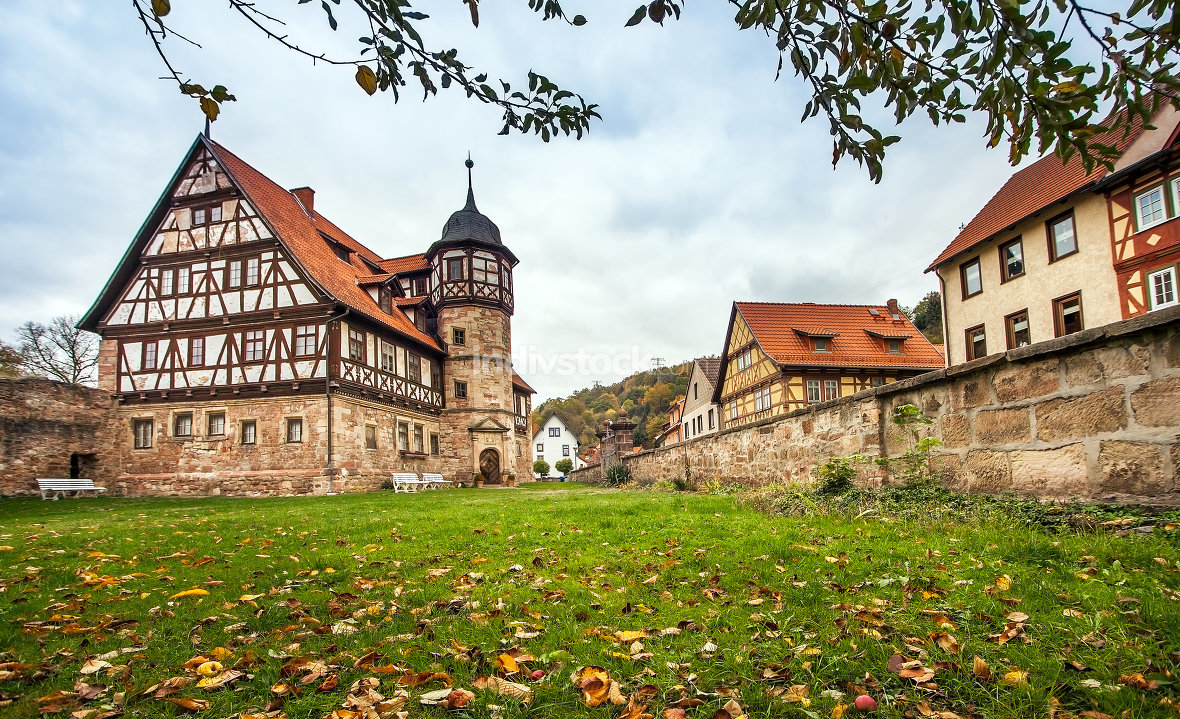 The downtown of Wasungen in Thuringia Germany on October 27, 201