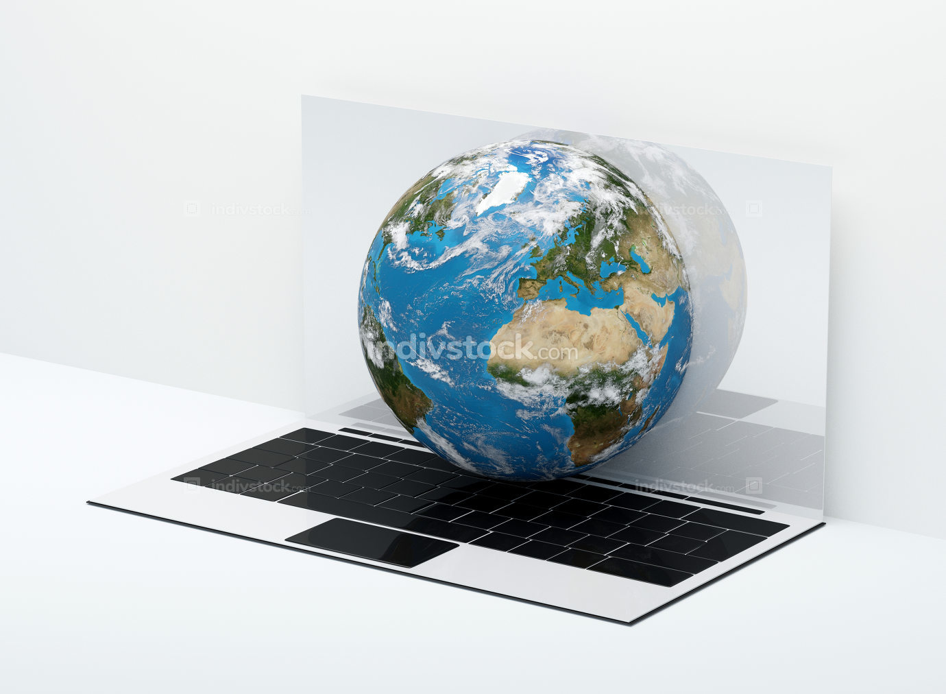 the planet earth out of computer. elements of this image furnish