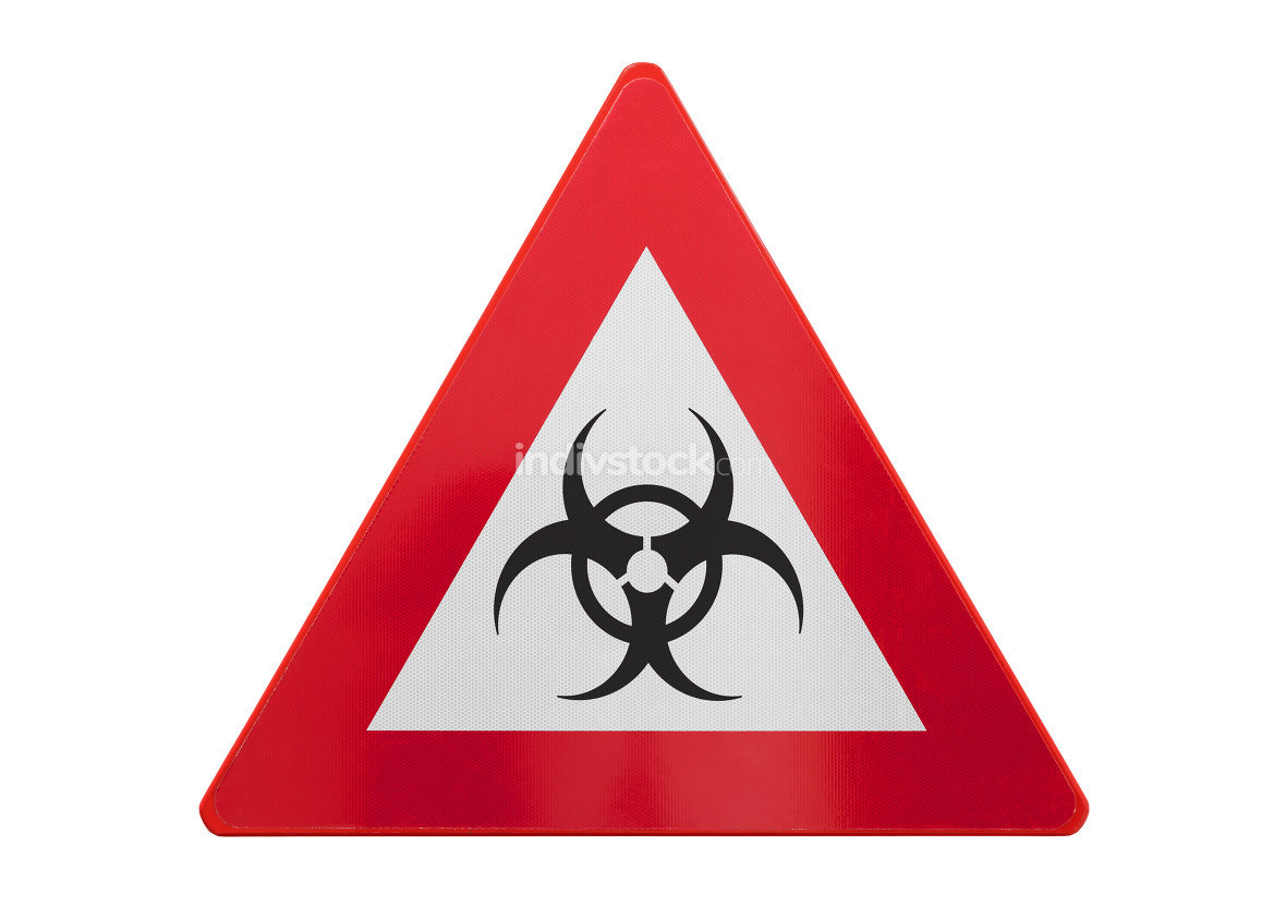 Traffic sign isolated - Biohazard