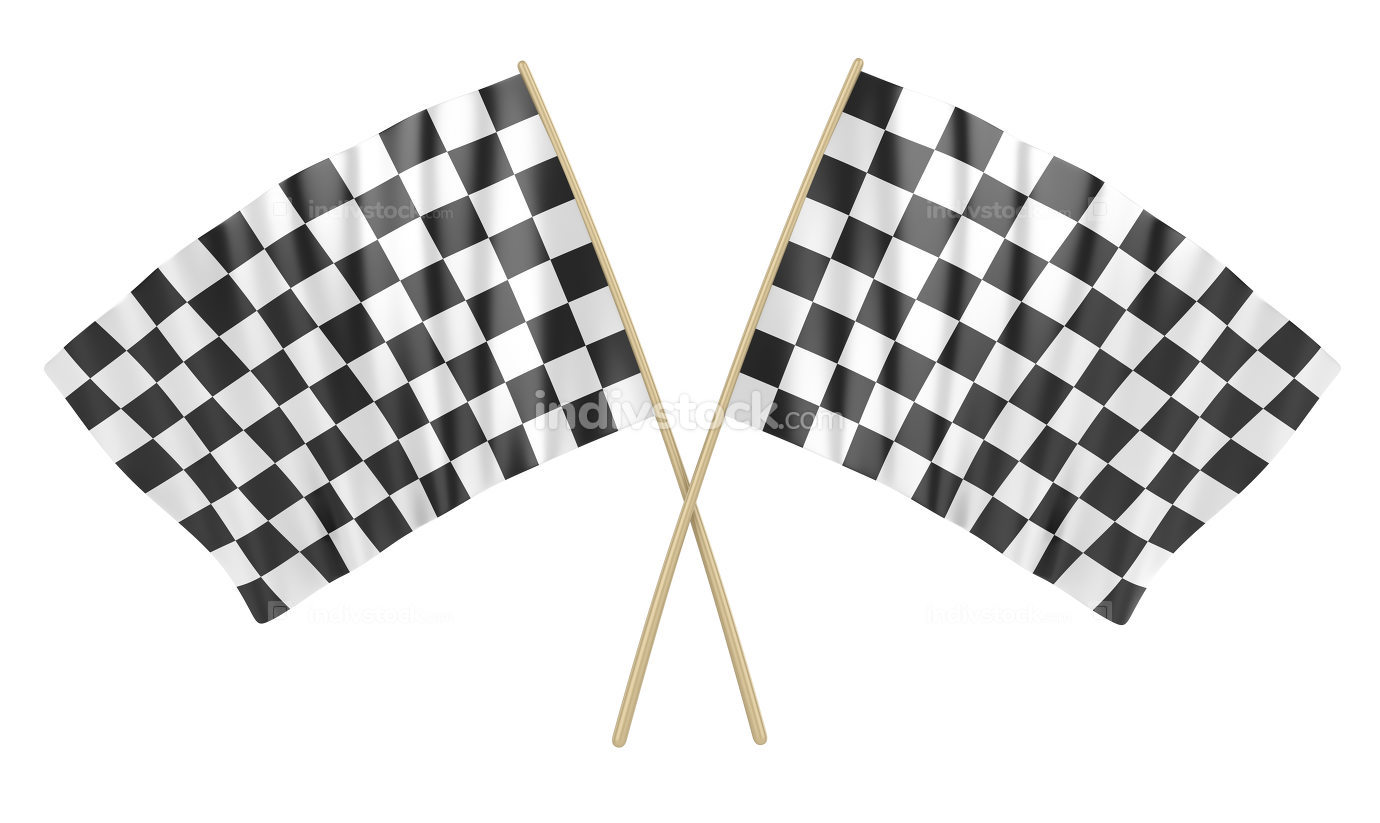 Two Checkered Flag