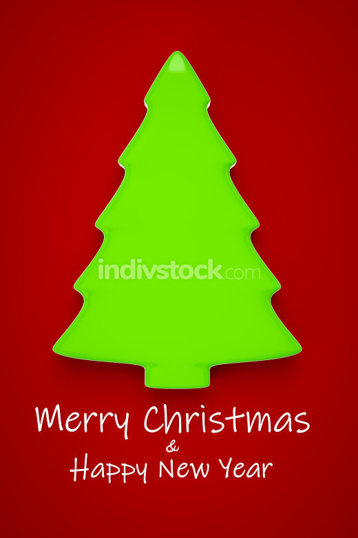typical green Christmas tree Christmas decoration