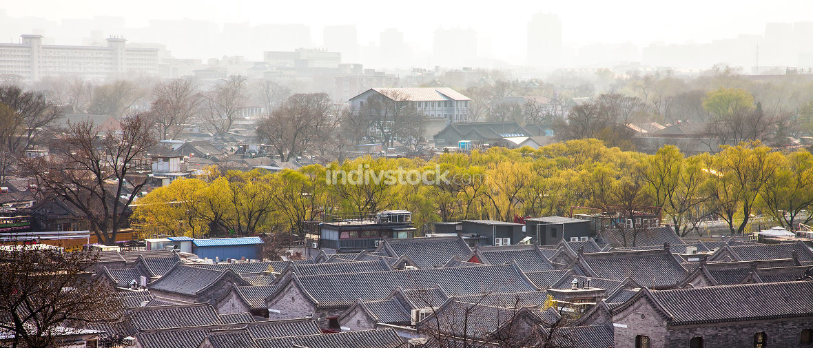 View of Beijing China on March 28, 2017