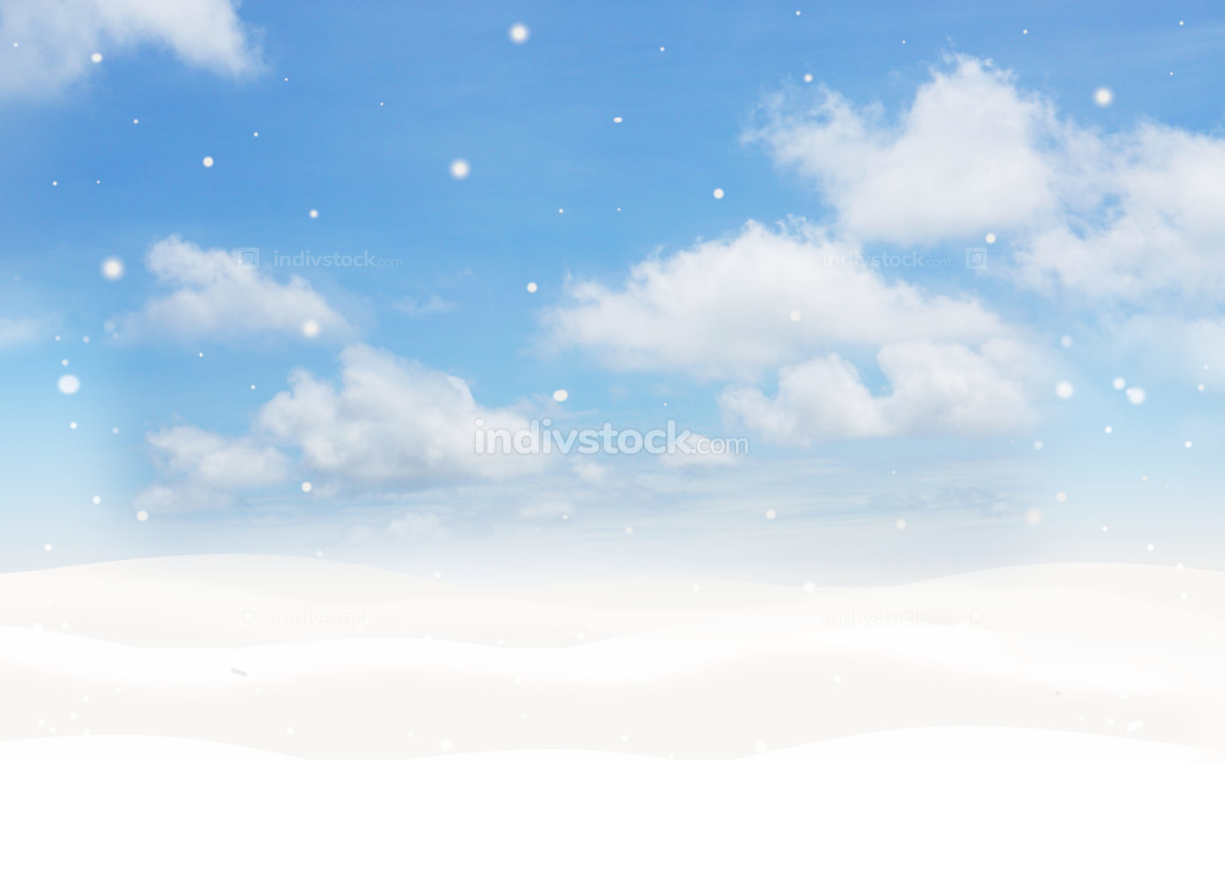 winter snow snowflakes background 3d-illustration