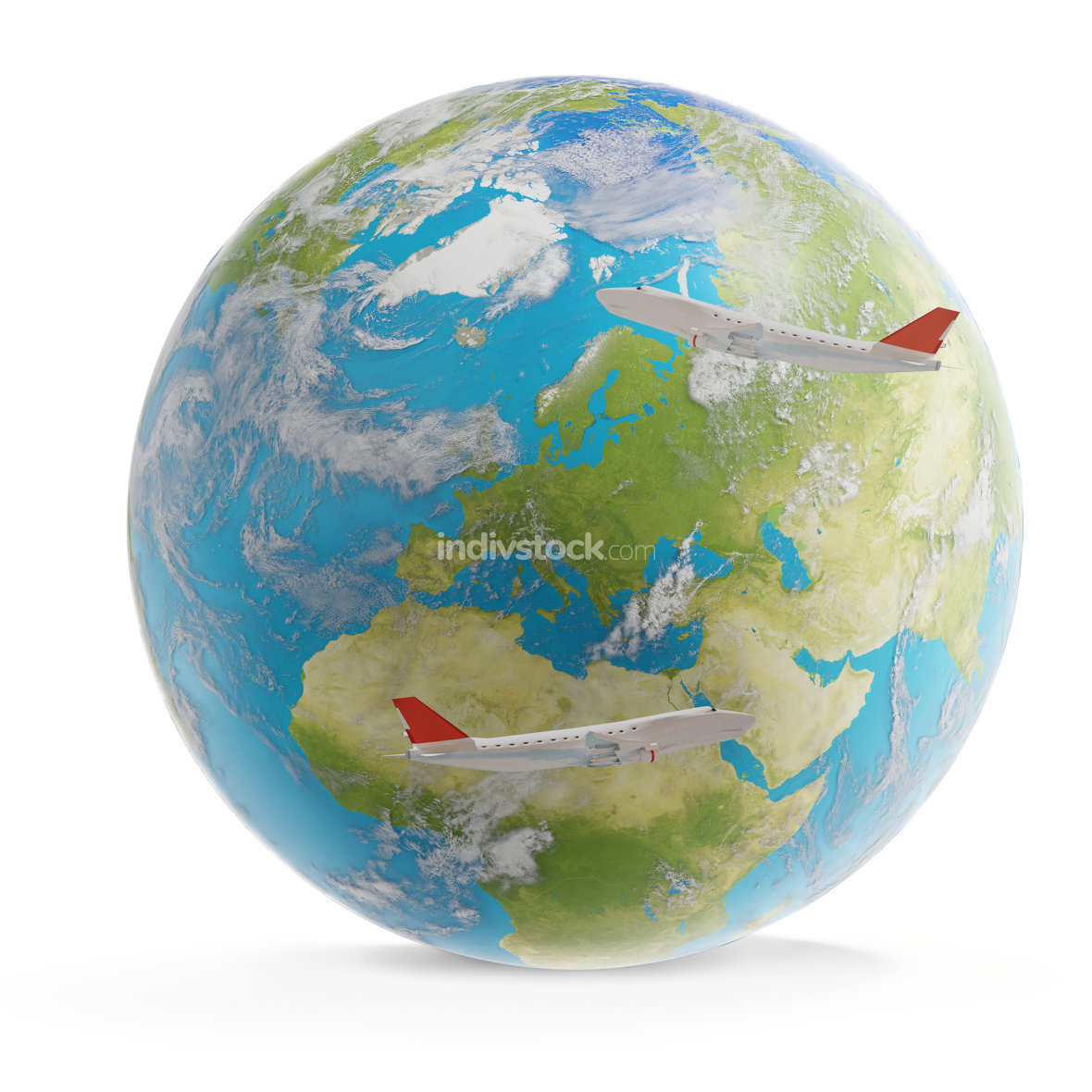 world planet 3d-illustration. elements of this image furnished b