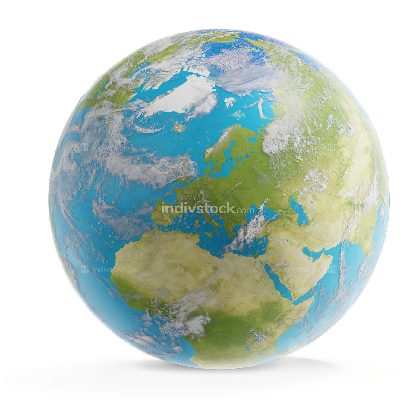 world planet Europe globe 3d-illustration. elements of this imag