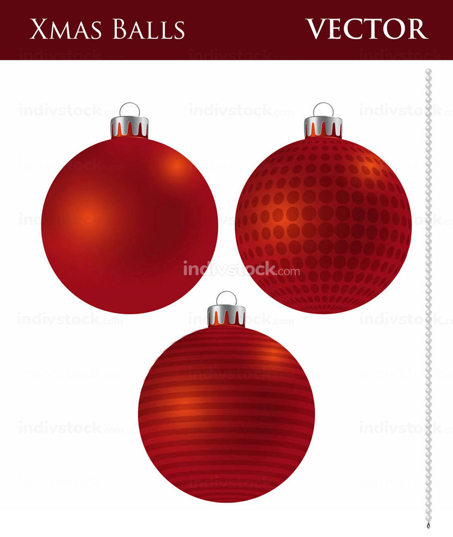 A Set of Dark Red Christmas Balls