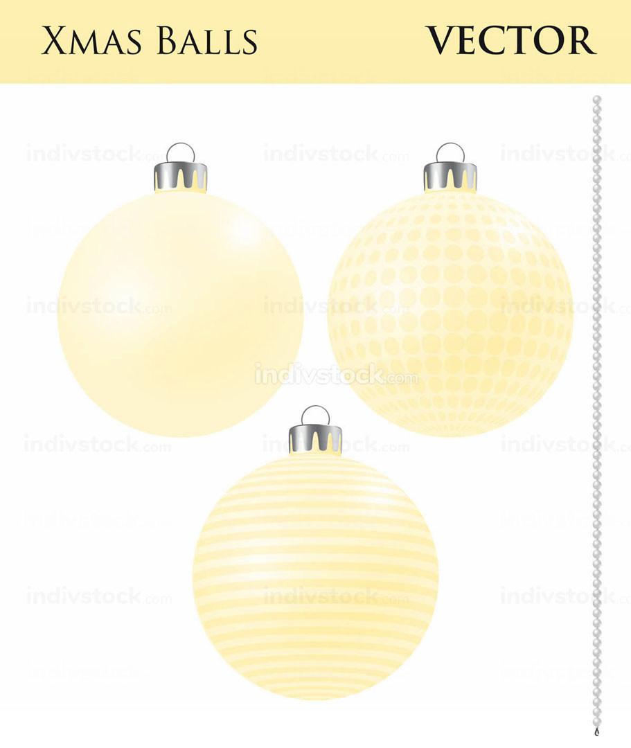 A Set of Yellow Christmas Balls