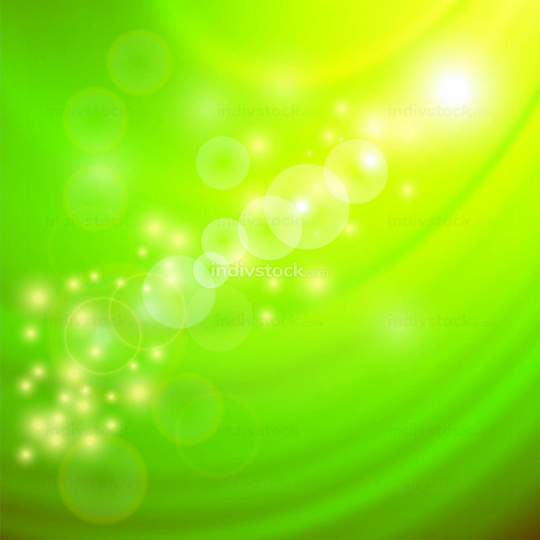 Abstract Light Green Wave Background