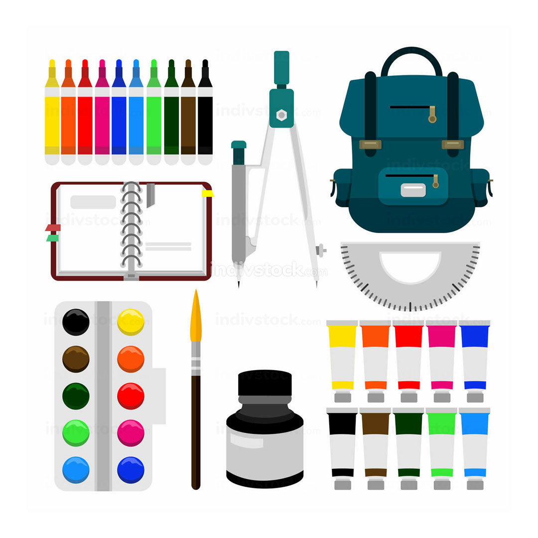 Back to School Object Equipment Illustration