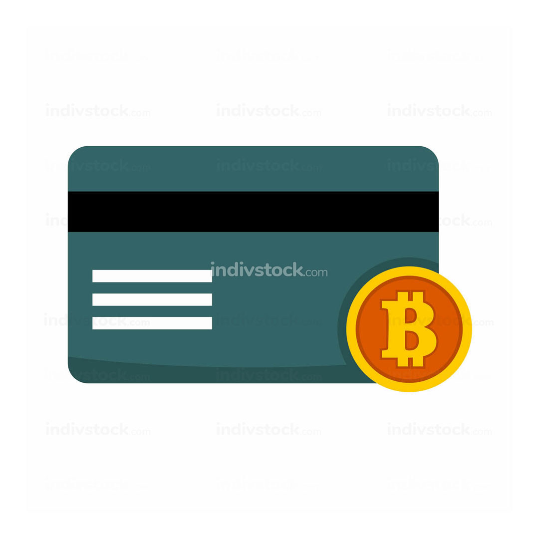 Bitcoin Transaction Card Vector Illustration Graphic