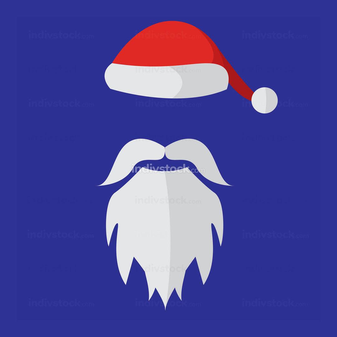 Cartoon Santa Claus Custome Mask Vector Illustration