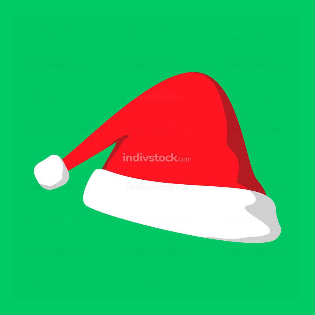 Christmas Elf Hat Vector Illustration