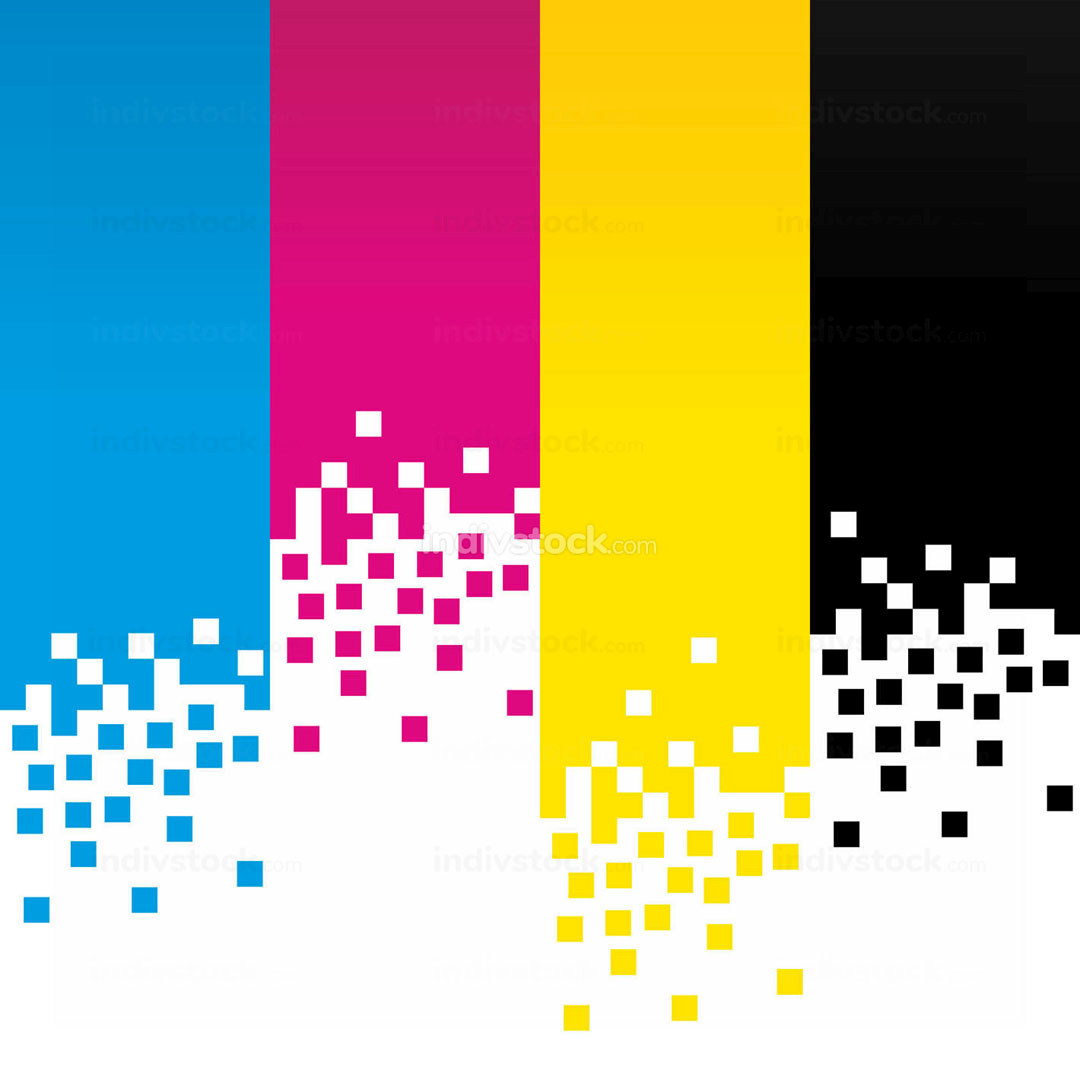 CMYK Digital Colour Lines Background Design