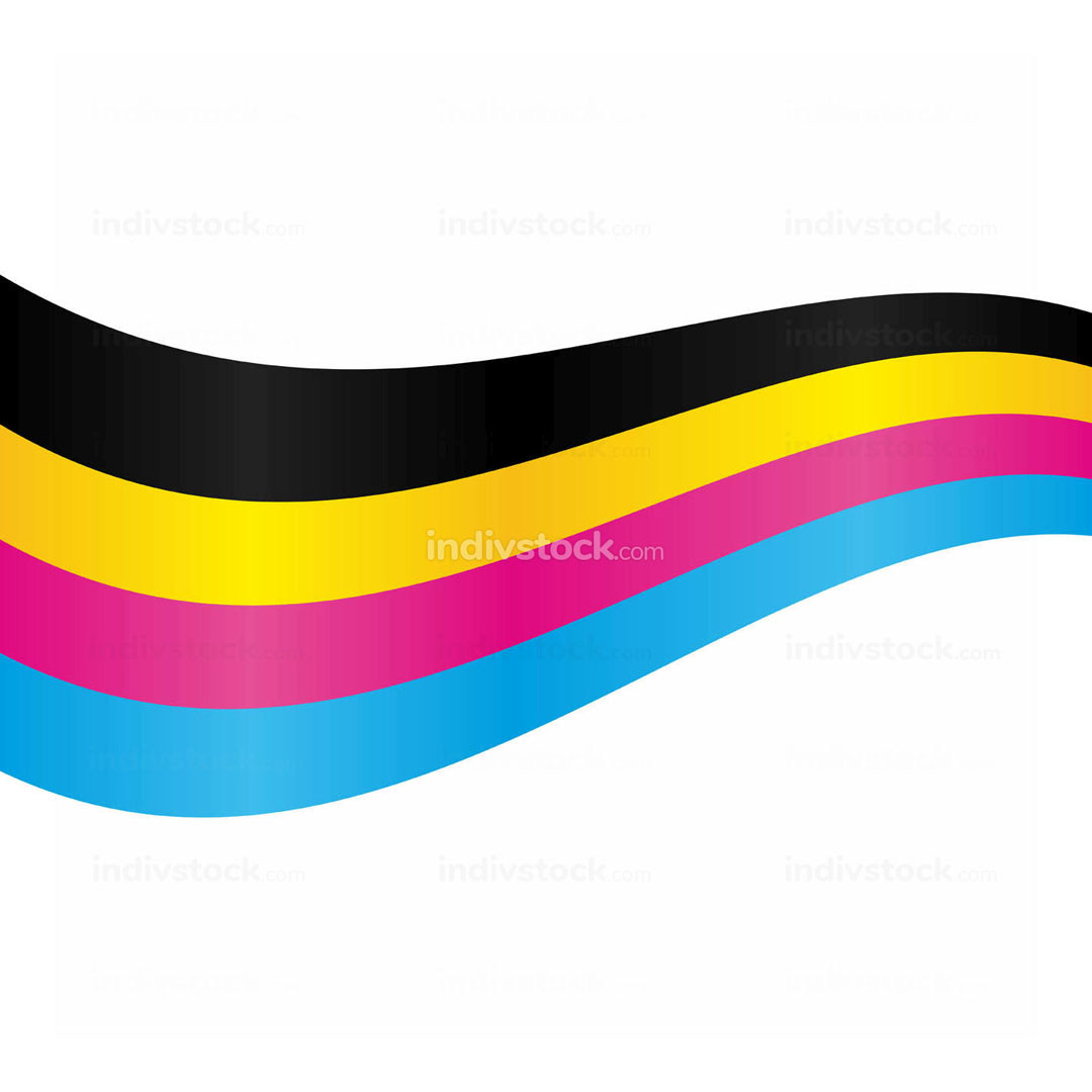 CMYK Stripe Line Swoosh Element Background Design