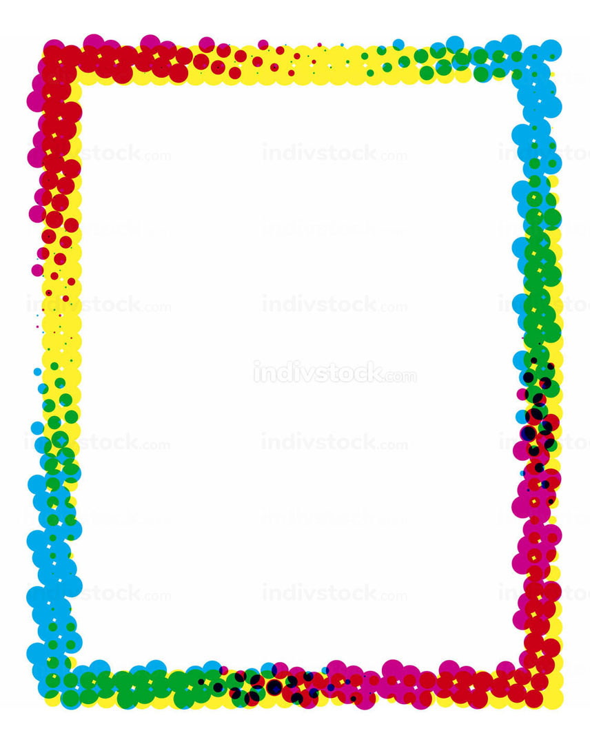 Colored Frame with Dots