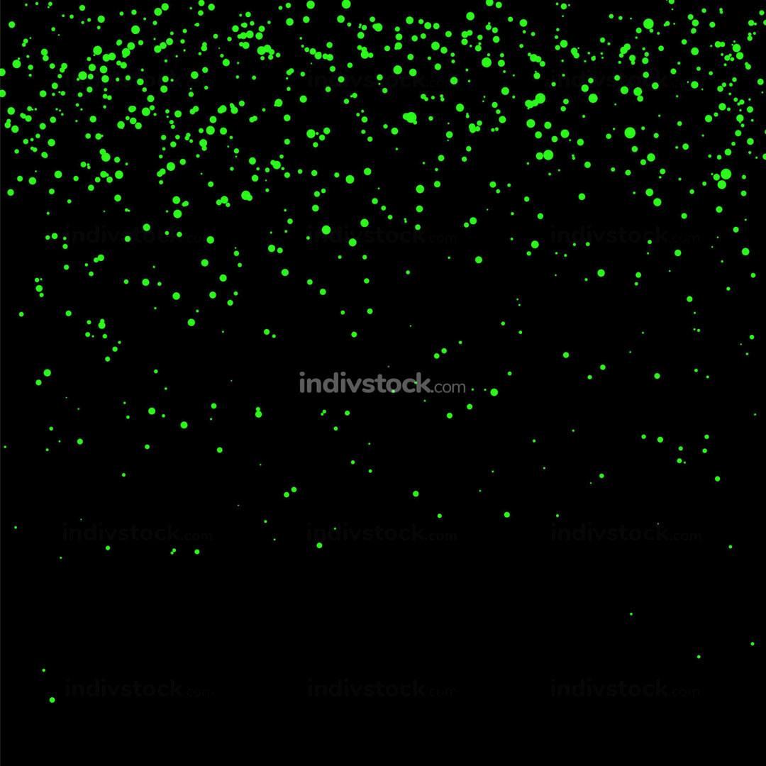 Green Confetti Isolated