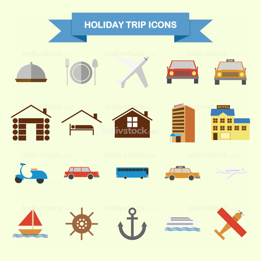 Holiday Trip Icons