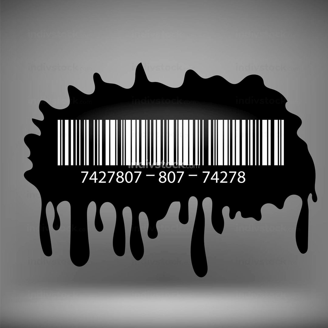 Ink Blot with Barcode