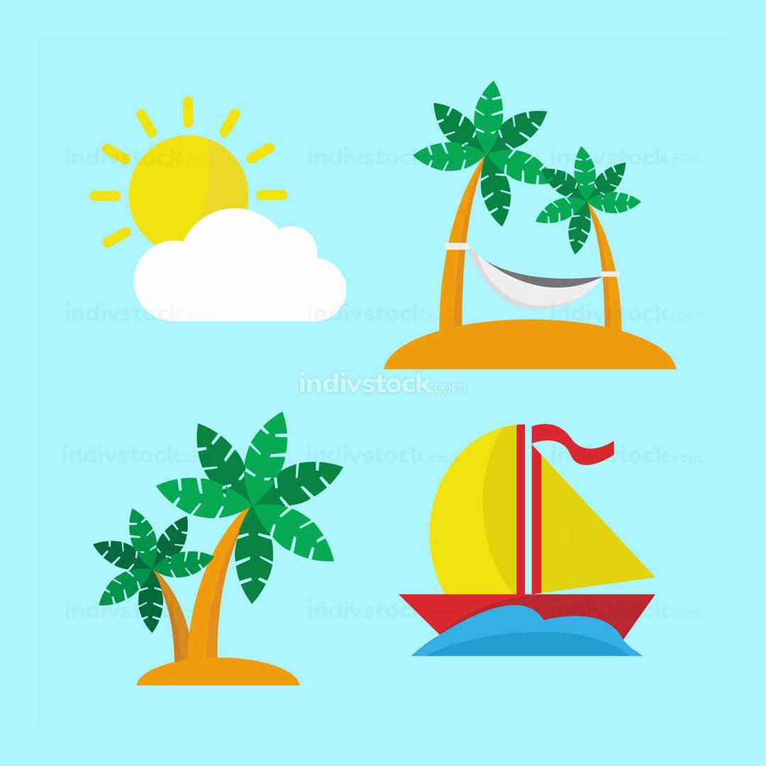 Island Escape Icon Set