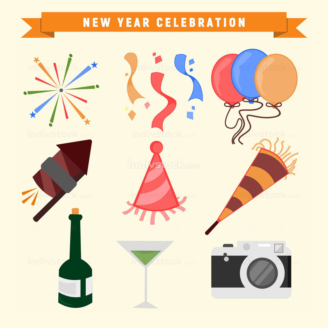 New Year Celebration Vector Graphic