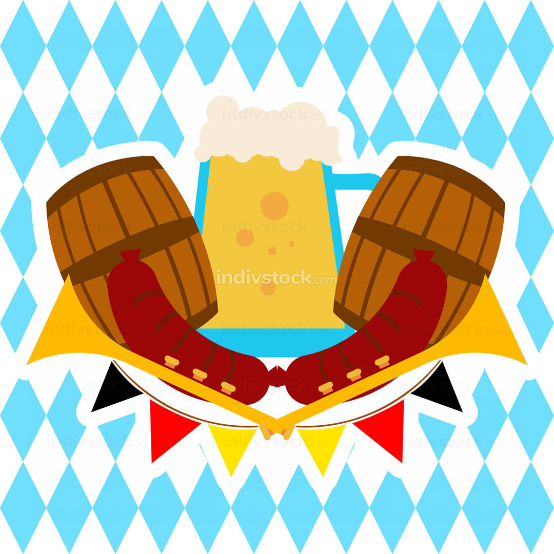 Oktoberfest Beer Pitcher Banner