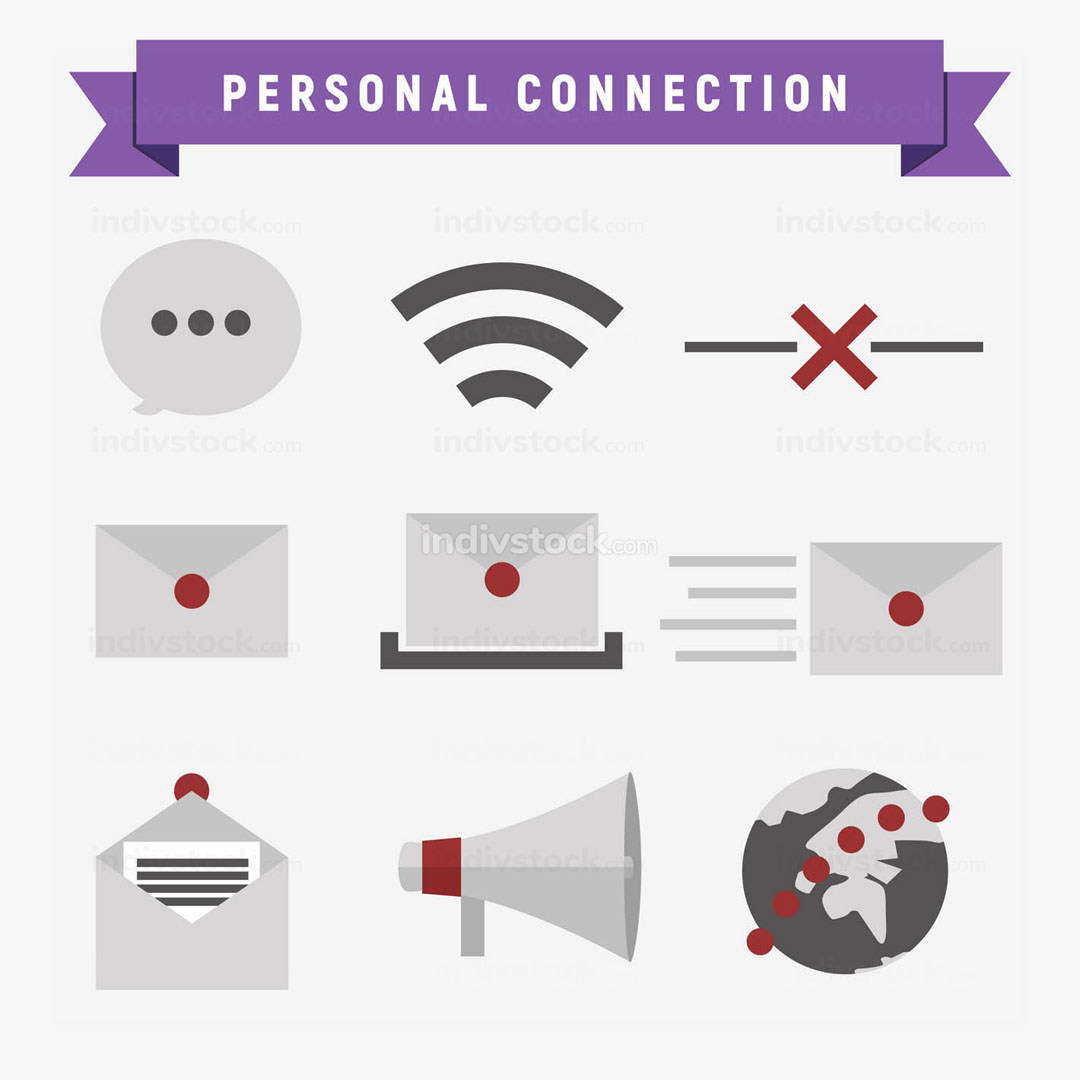 Personal Connection Icon Set