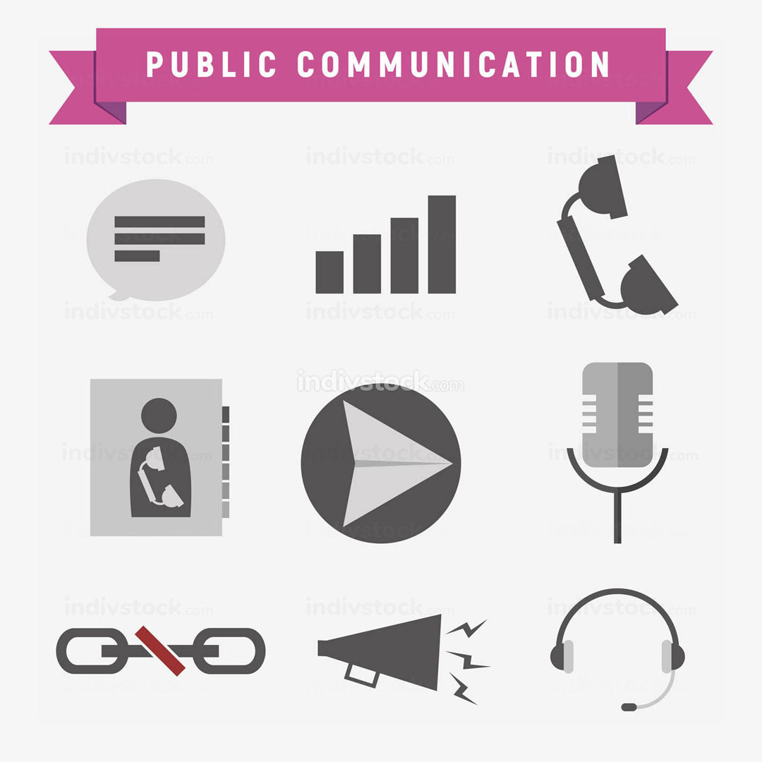 Public Communication Icon Set