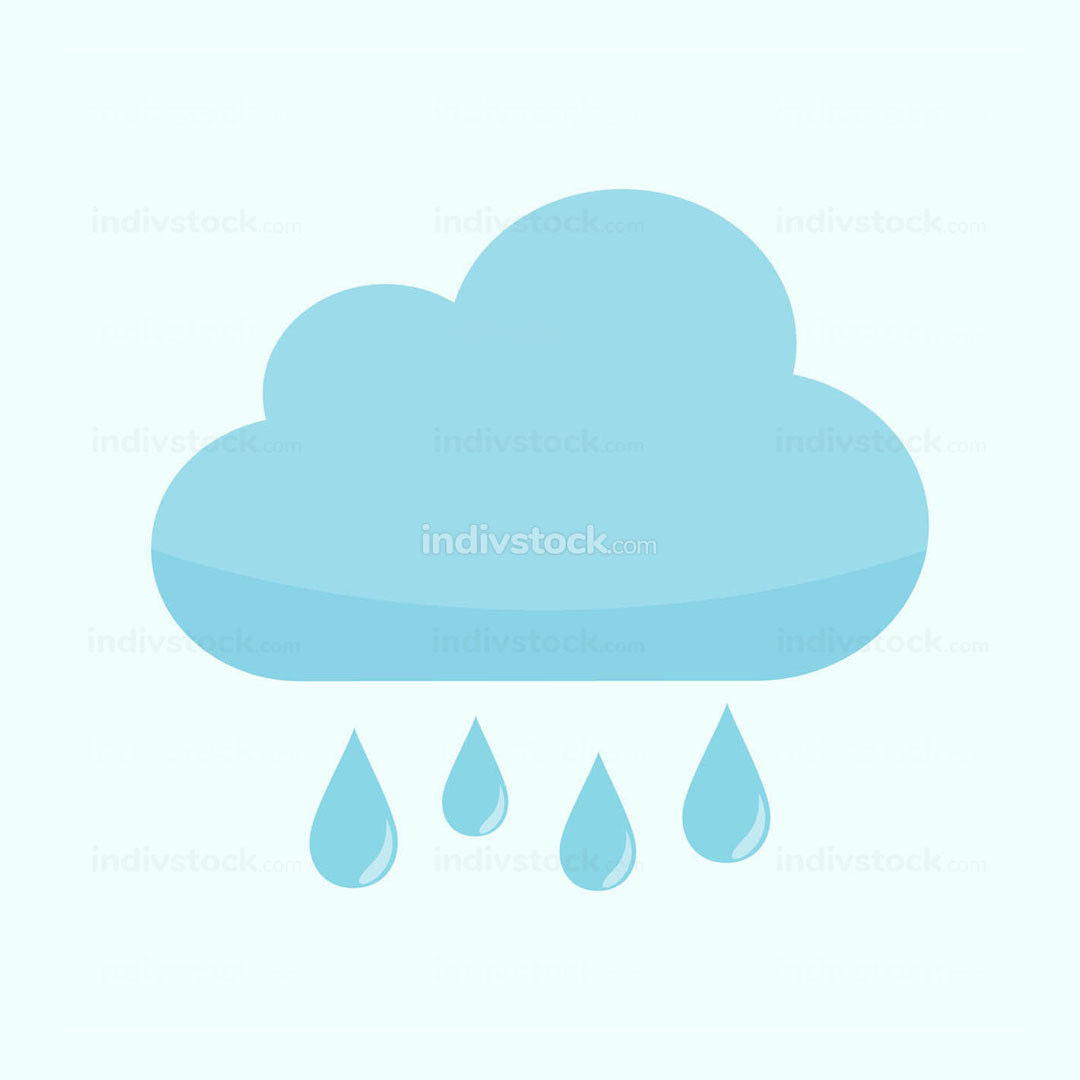 Rainy Cloud Weather Illustration Graphic