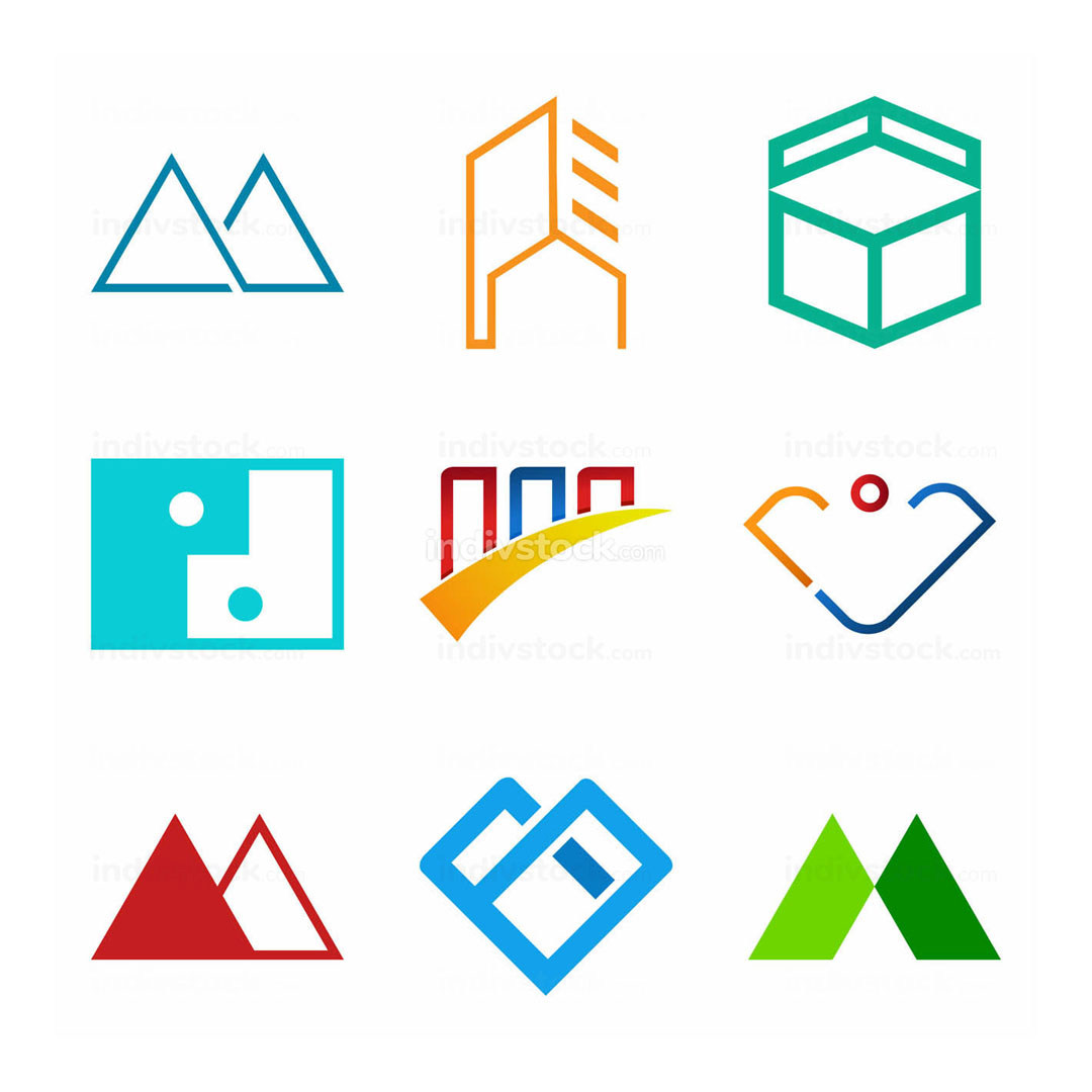 Set of Corporate Abstract Symbol Design Package
