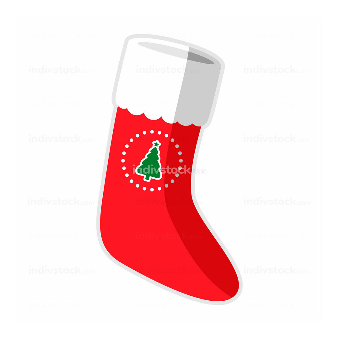Simple Christmas Sock Vector Illustration