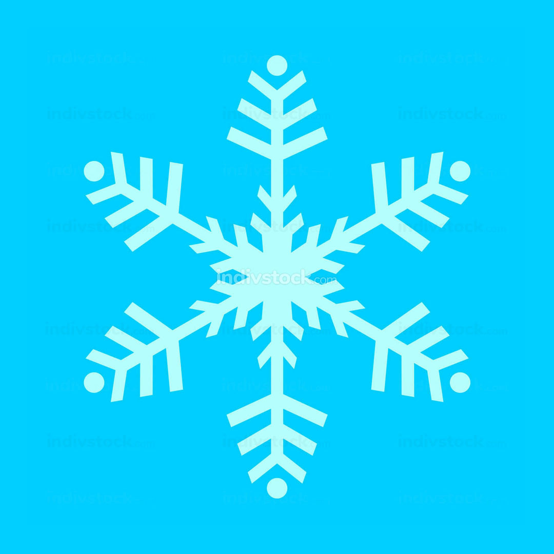Snowflake Symbol Vector Illustration